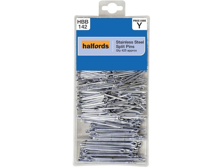 Halfords Assorted Stainless Steel Split Pins
