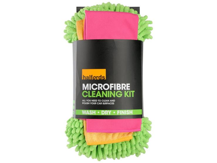 Halfords Microfibre Cleaning Kit