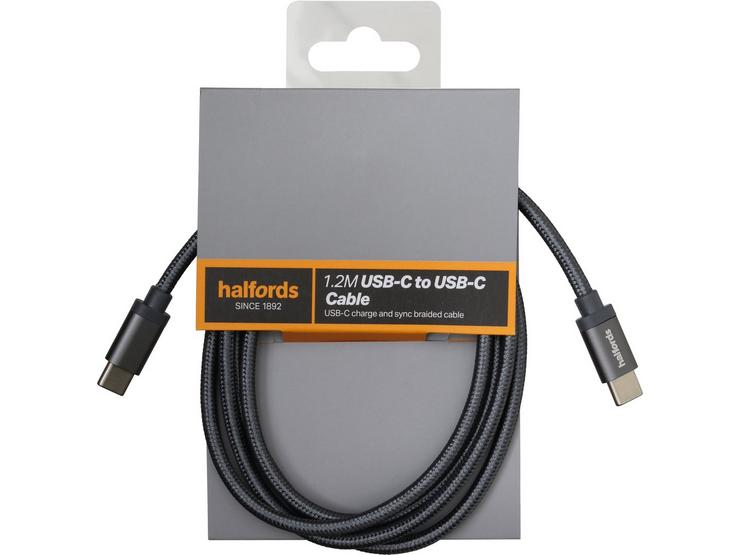 Halfords Cable C-C 1.2m - Charcoal