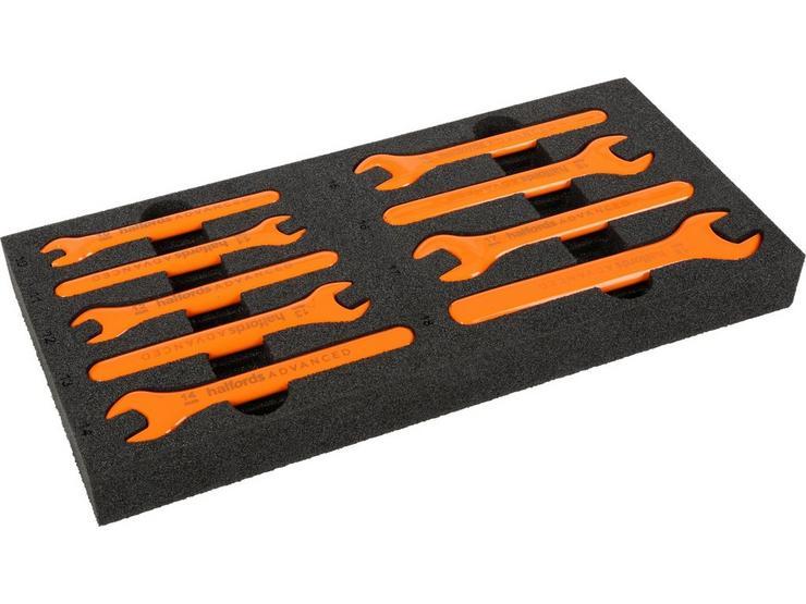 Halfords Advanced EV 1000V Insulated 9 Piece Spanner Set 10-18mm