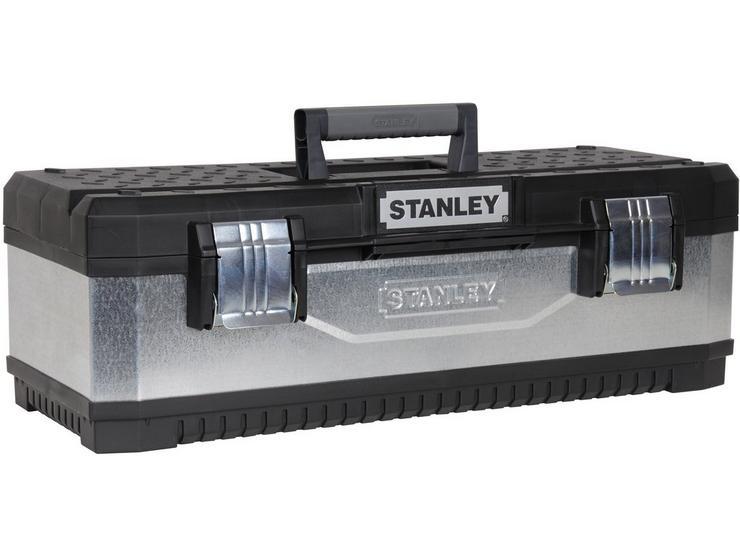 """Stanley 26"""" Galvanised Metal/Plastic Toolbox"""