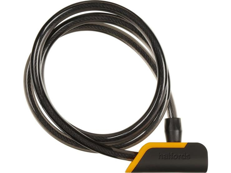 Halfords 120cm Cable Lock - Key