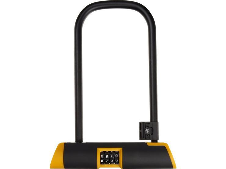 Halfords 23cm D Lock - Combination