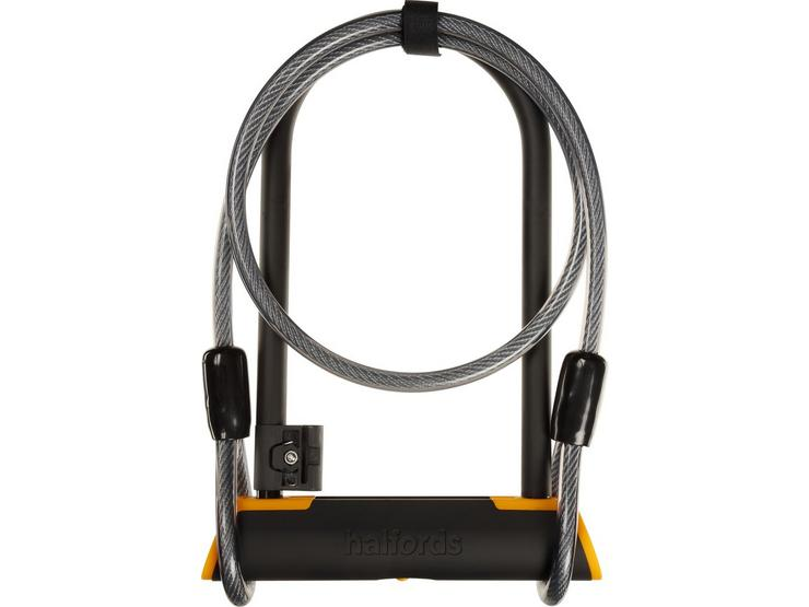 Halfords 23cm D Lock And 115cm Cable Lock