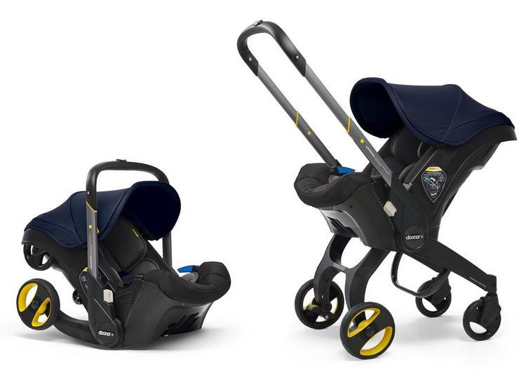 Doona+ Infant Car Seat and Stroller Travel System - Royal Blue