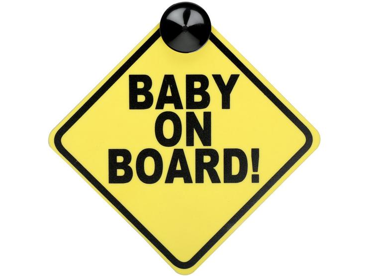 Halfords Baby on Board Sign