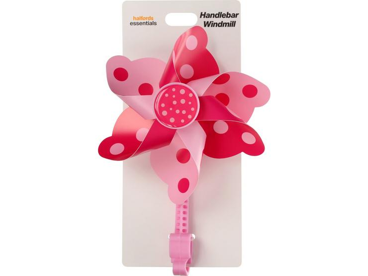 Halfords Essential Kids Bike Handlebar Windmill - Pink/Purple