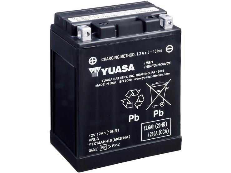 Yuasa YTX14AH-BS 12V High Performance Maintenance Free VRLA Battery