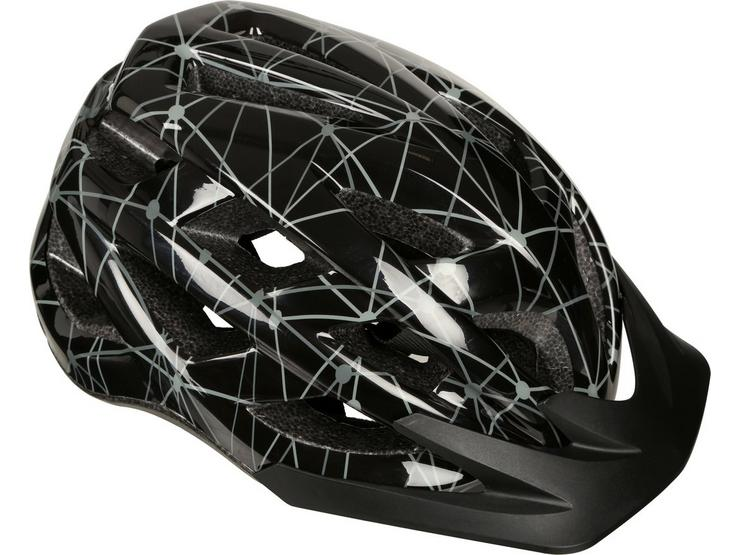 Black and Grey Lines Kids Helmet (52-56cm)