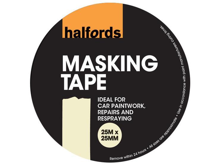 Halfords Masking Tape 25mm x 25m