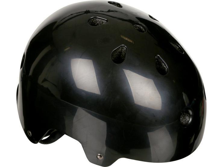 Halfords Essential ABS Kids Helmet - Black (48-54cm)