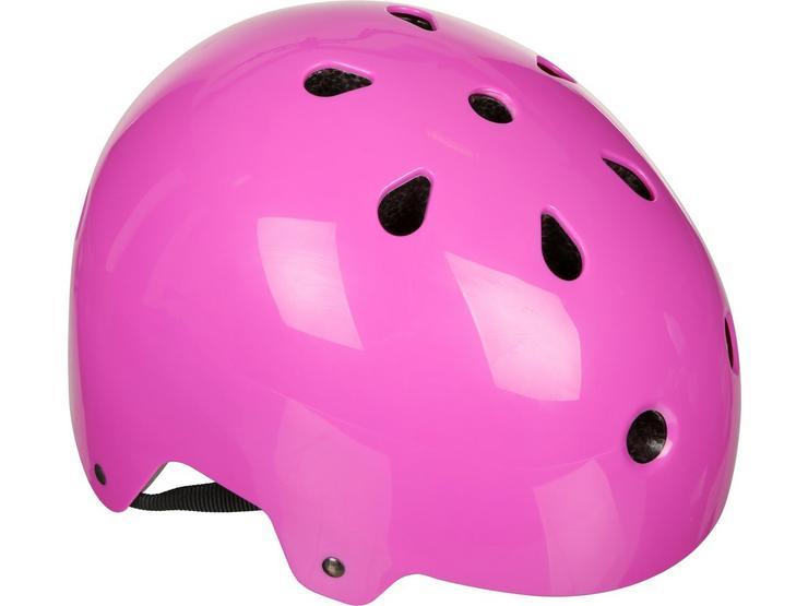 Halfords Essential ABS Kids Helmet - Pink (48-54cm)