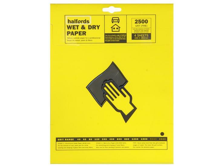 Halfords Wet & Dry P2500 x 4