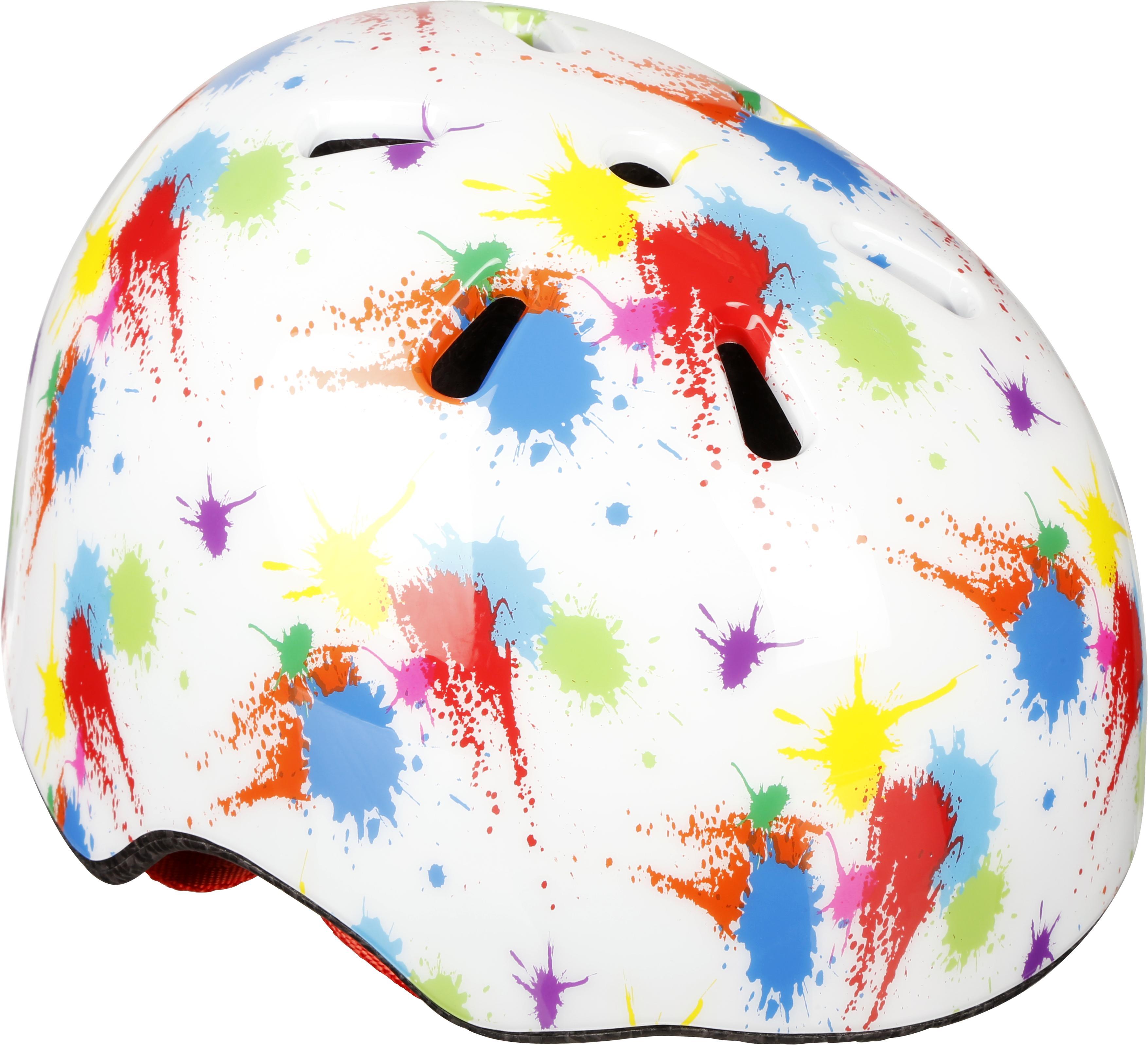 Halfords Toddler Paint Splatter Skate Helmet (46-50Cm)
