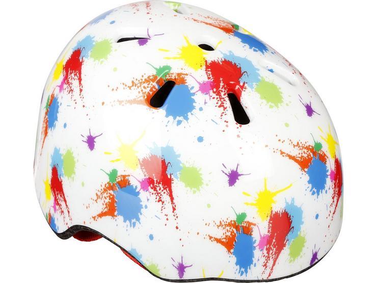 Toddler Paint Splatter Skate Helmet (46-50cm)