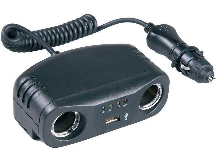 HALFORDS 2 X 12V  1X USB + BA.