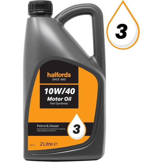 Halfords 10w40 Part Synthetic Oil 3 2 Litres Halfords Uk