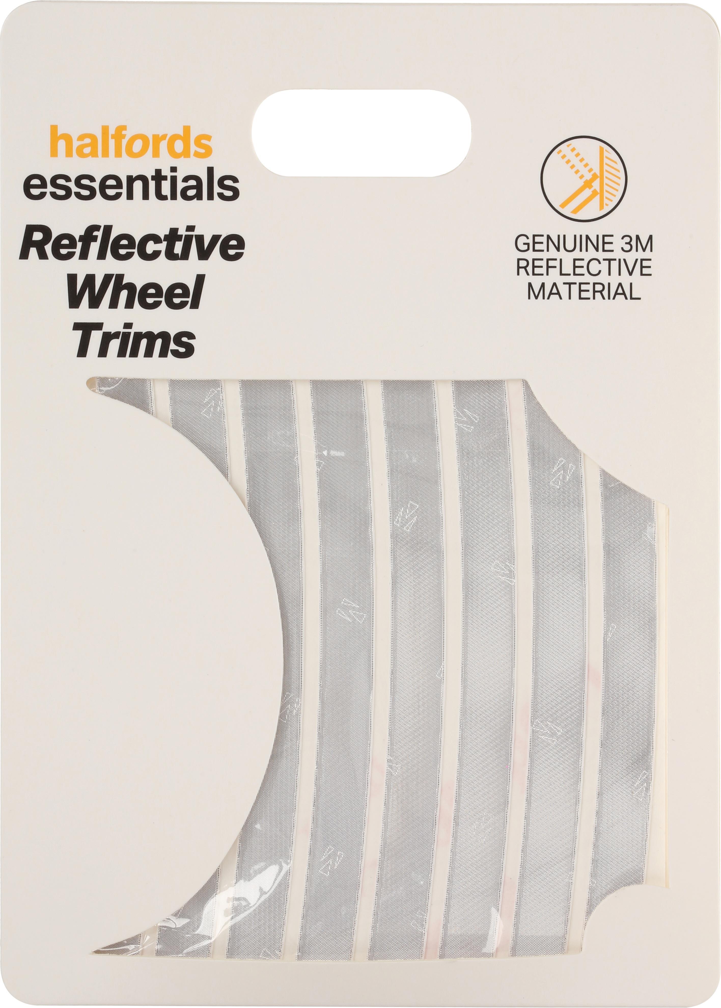 Halfords Reflective Wheel Trims - Silver