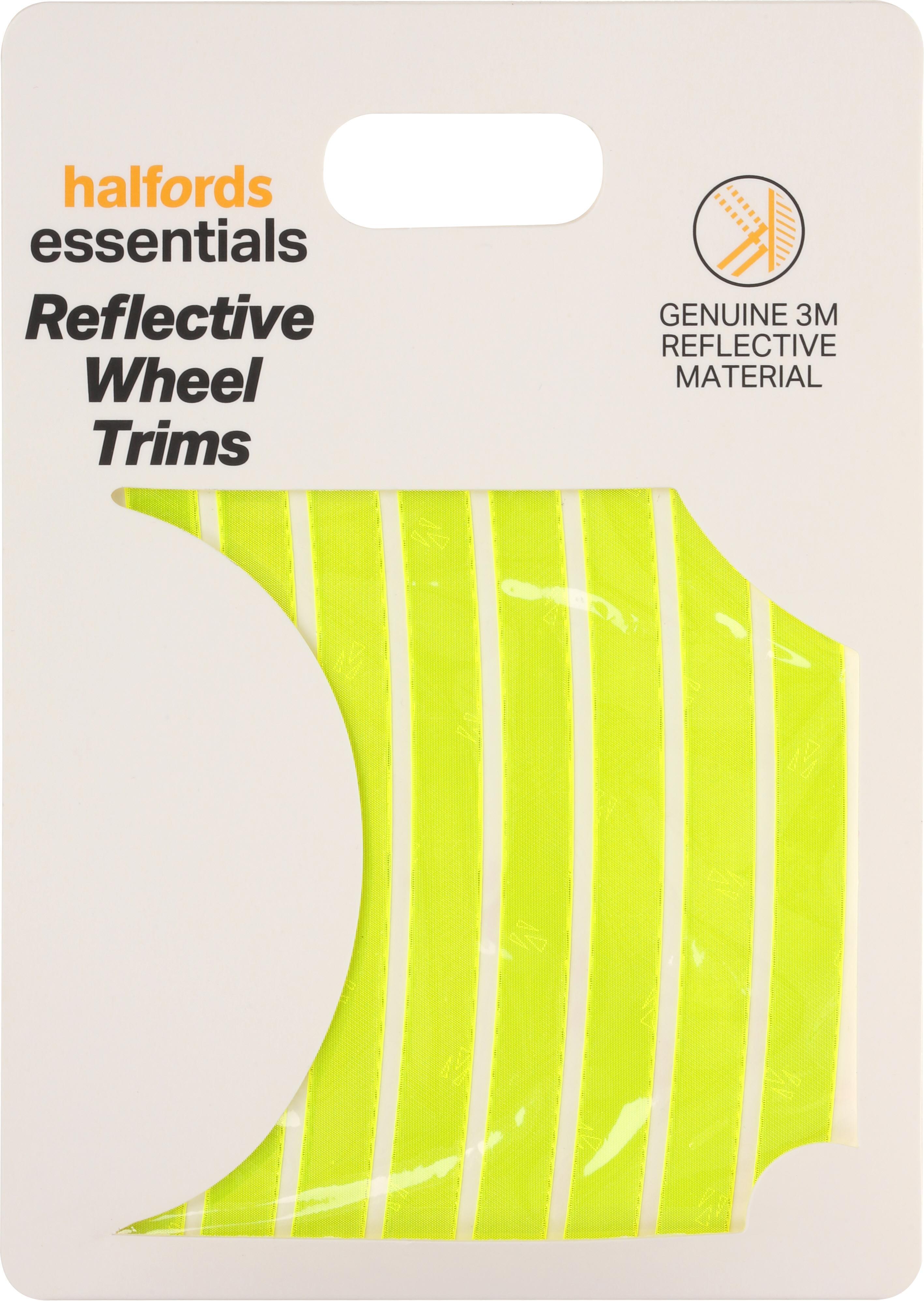 Halfords Reflective Wheel Trims - Yellow
