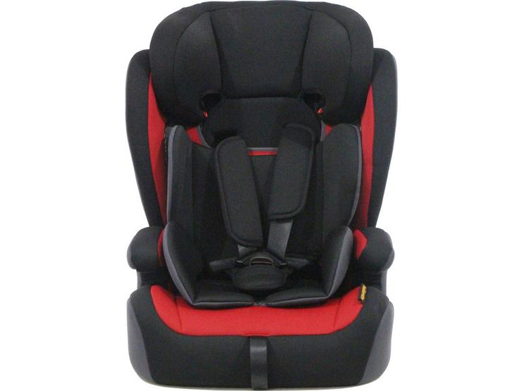 Halfords Group 1/2/3 Child Car Seat - Black, Red & Grey