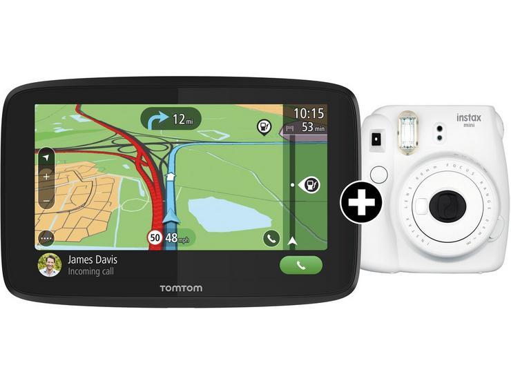 "Tomtom Go Essential 6"" Car Sat Nav And Fuji Instax Mini Cam"
