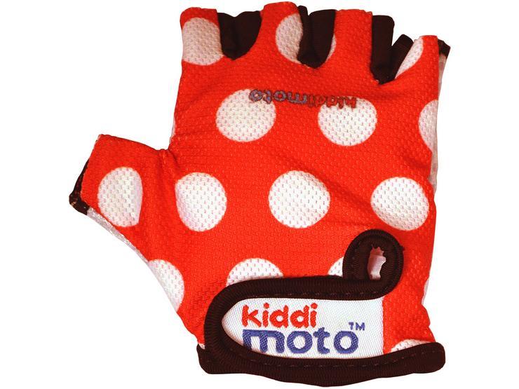 Kiddimoto Red Dotty Gloves Small