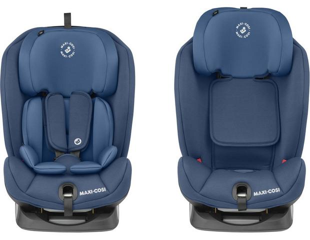 Maxi Cosi Titan Child Car Seat With Built In Isofix Base Basic Blue Halfords Uk
