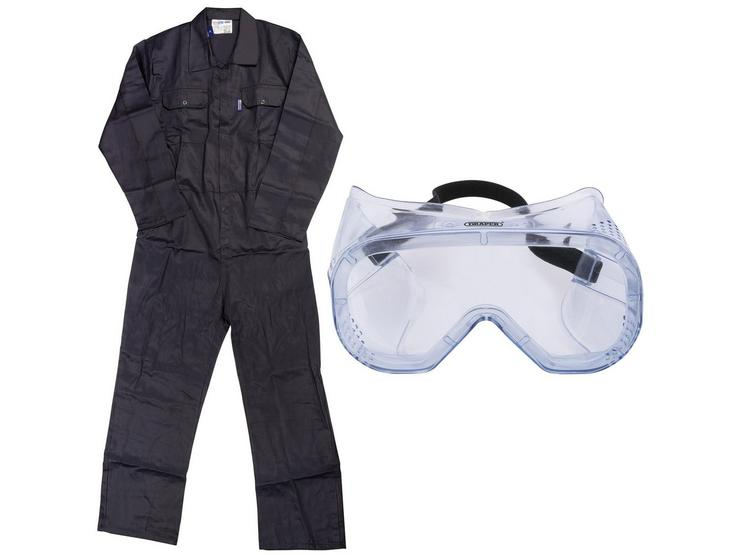 Overall and Safety Goggles Bundle