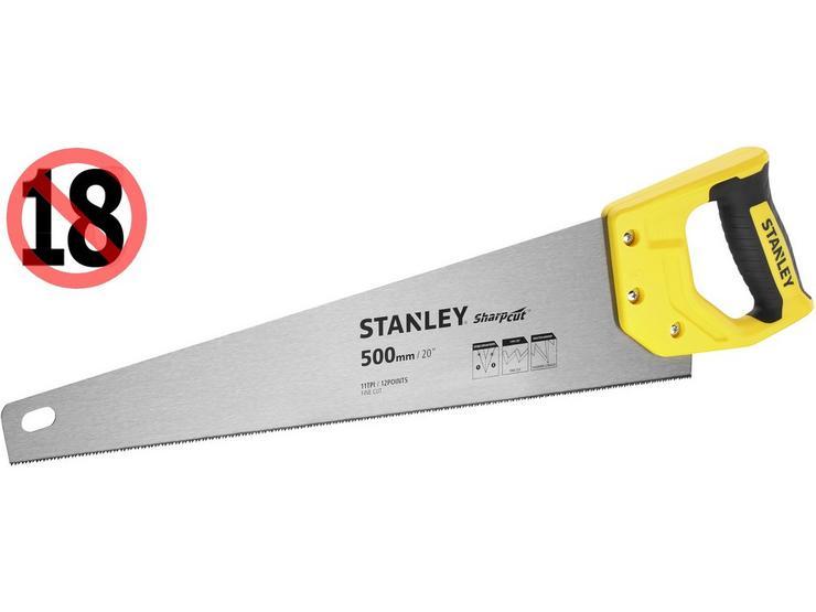 "Stanley Sharpcut 20""/500mm 11TPI Saw"