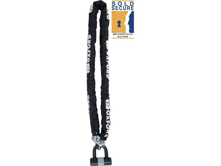 Oxford Max Chain Lock - 9.5mm Sq x 1.5m