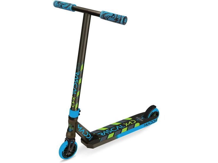 Madd Gear Kick Mini Pro Rascal III Stunt Scooter - Blue/Lime