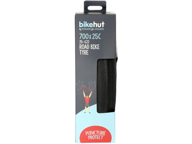 Bikehut Folding Bike Tyre 700 x 25c with Puncture Protect