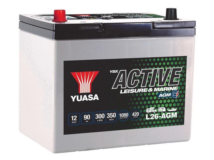 Yuasa Active Leisure Battery L26-AGM