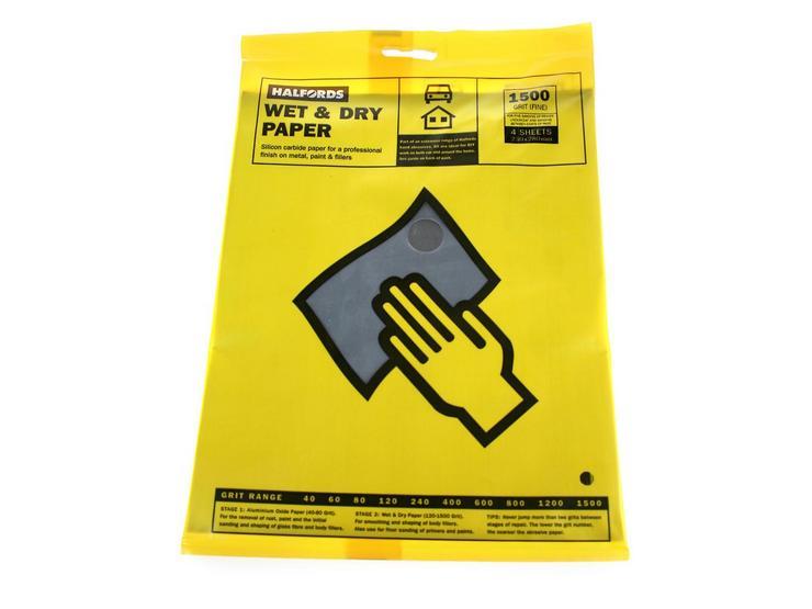 Halfords Wet & Dry Sanding Paper 1500 Grit