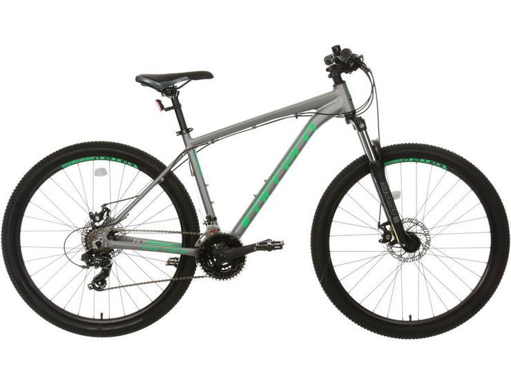 Carrera Hustle 1 Mountain Bike - Grey/Green, M