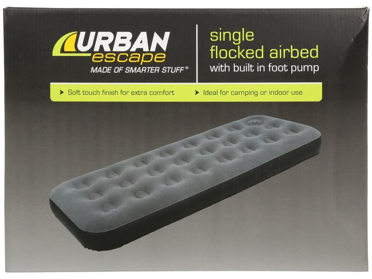 Urban Escape Airbed with Built In Pump - Single