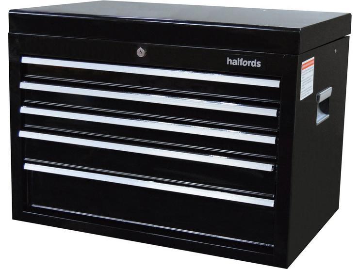 Halfords 5 Drawer Top Chest - Black