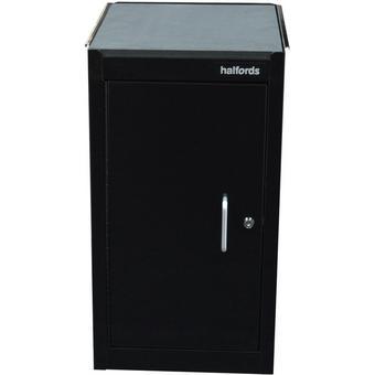 575271: Halfords 1 Door 1 Shelf Side Cabinet - Black