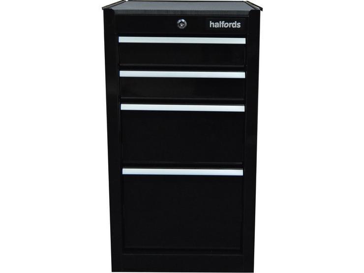 Halfords 4 Drawer Side Cabinet - Black