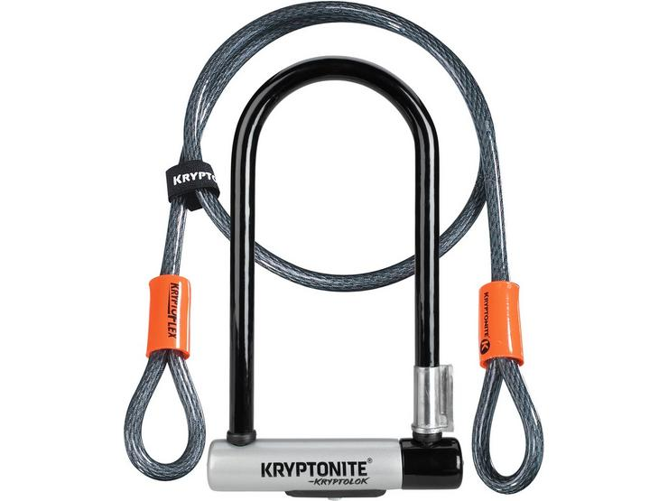 Kryptolok Standard U-Lock With 4 Foot Kryptoflex Cable Sold Secure Gold