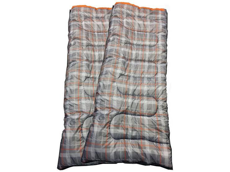 OLPro Hush Patterned Sleeping Bag X2 - Double