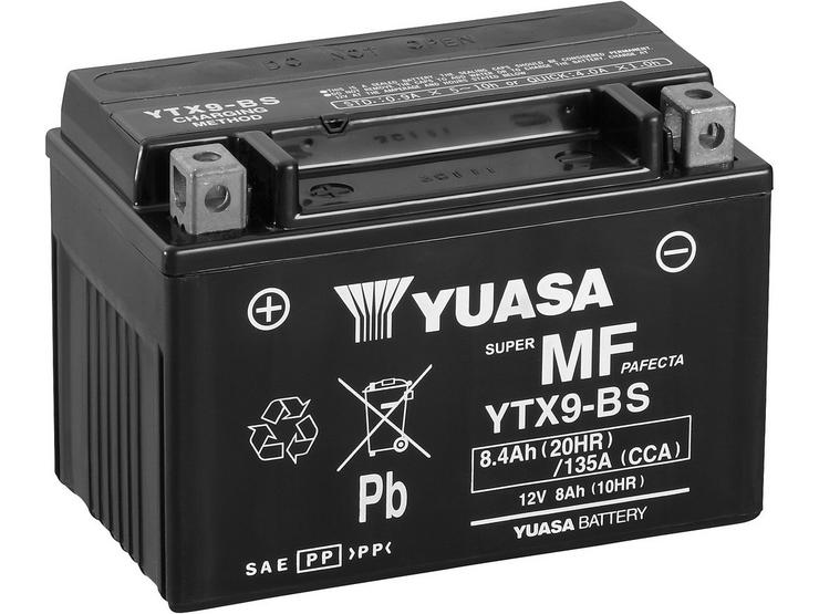 Yuasa YTX9-BS Maintenance Free Motorcycle Battery