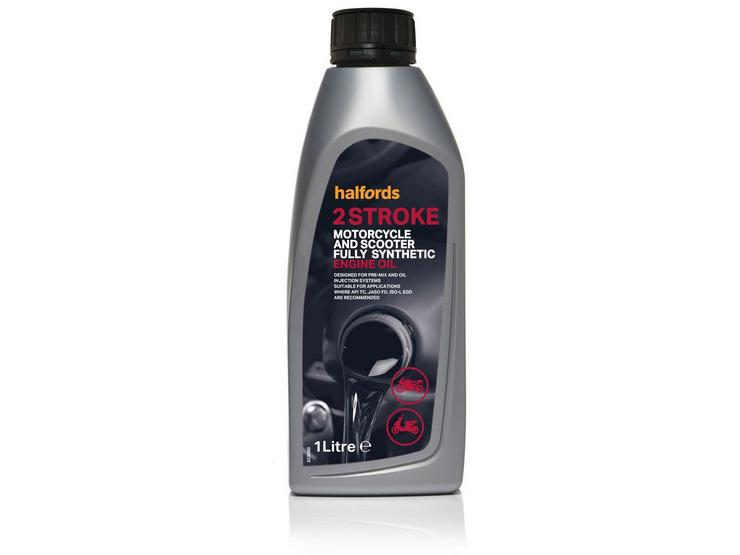 Halfords Motorcycle & Scooter Oil Fully Synthetic 2 Stroke 1ltr