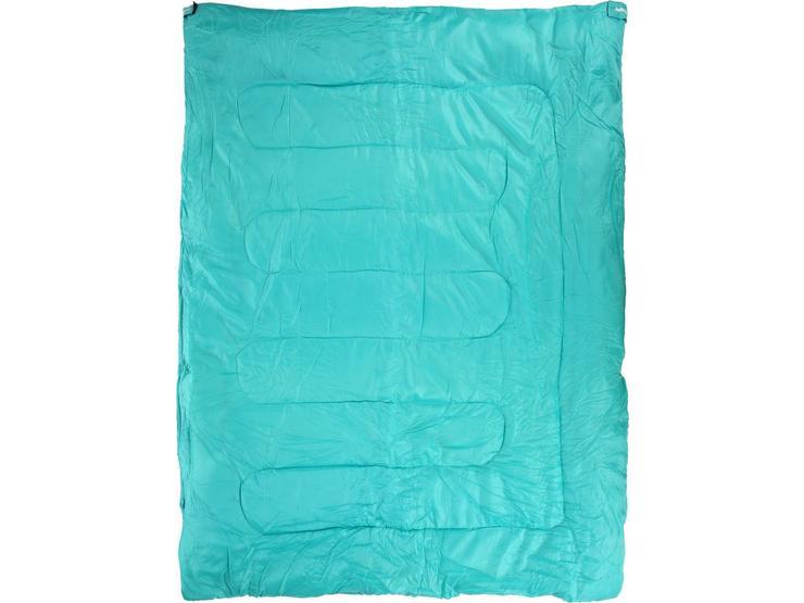 Halfords Double Envelope Sleeping Bag - Green 738561