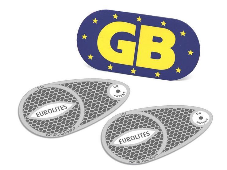 Halfords Headlamp Beam Converters & Magnetic GB Plate
