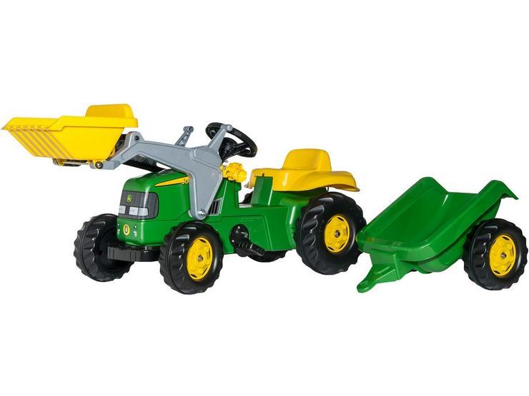 Rolly Kid John Deere Tractor with Frontloader & Trailer