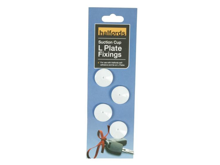 Halfords Suction Cup L Plate Fittings