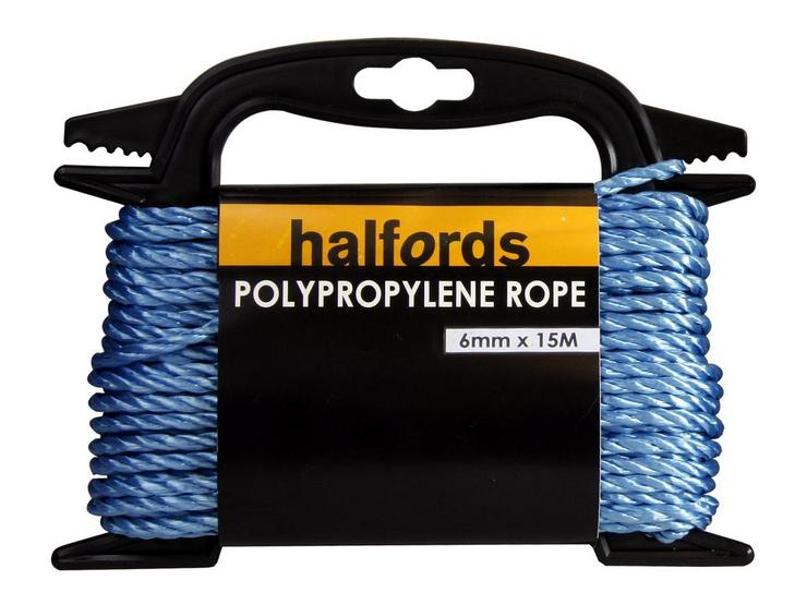 Halfords Polypropelene Rope 6mmx15m