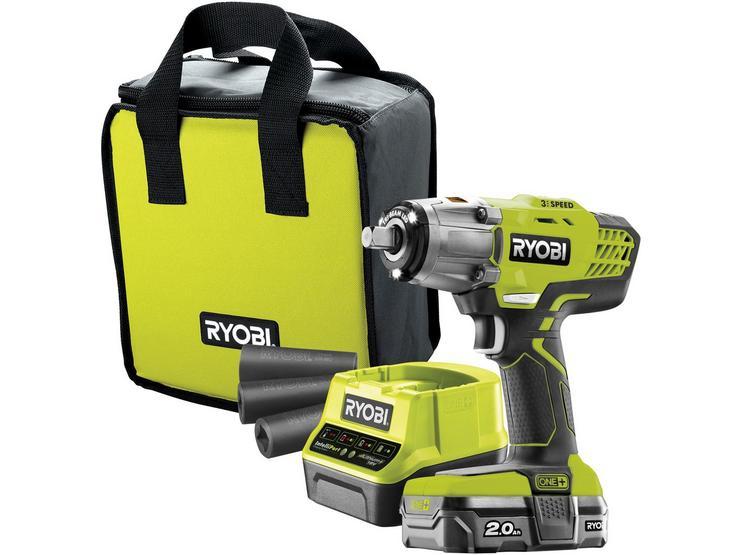 Ryobi 18V ONE+ Impact Wrench Starter Kit (1x2.0Ah)