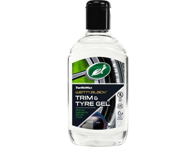 Turtle Wax Wet N Black Tyre & Trim Gel 300ML